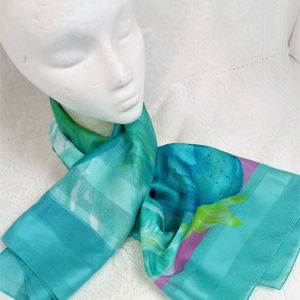 Vtg Symphony Scarf Made In Italy  Great Colors